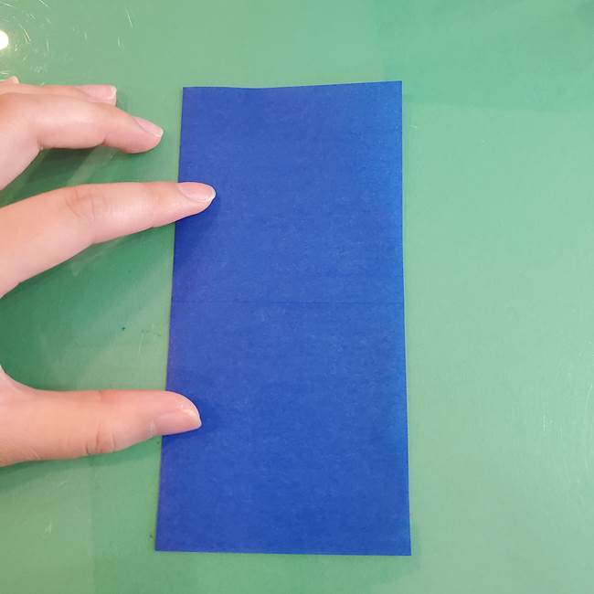 折り紙の箱クジラ(立体)折り方作り方(4)