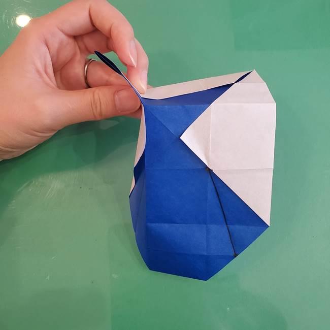 折り紙の箱クジラ(立体)折り方作り方(40)