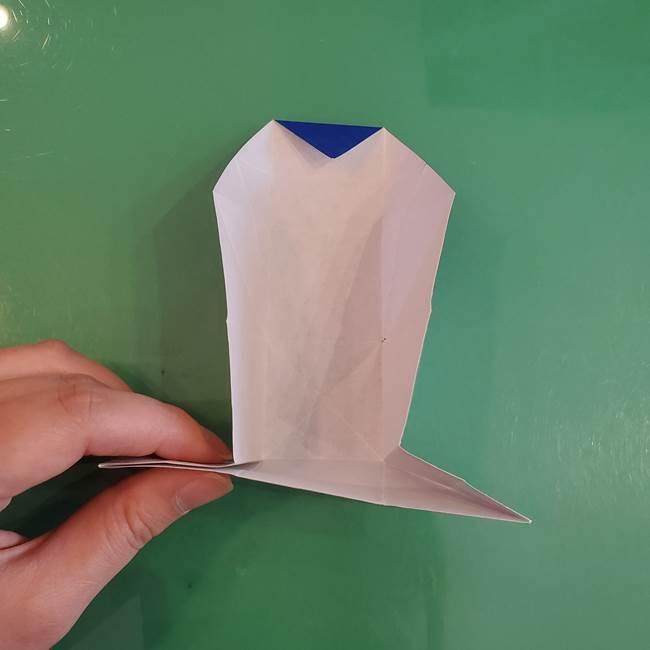 折り紙の箱クジラ(立体)折り方作り方(42)