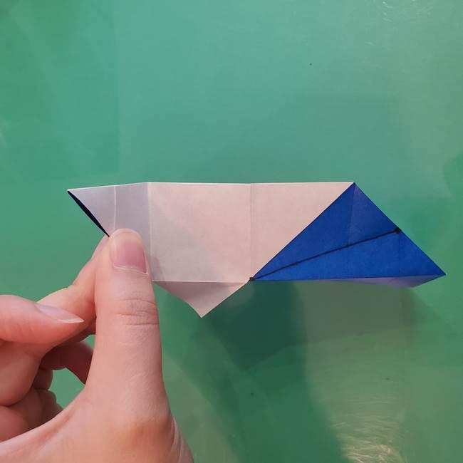 折り紙の箱クジラ(立体)折り方作り方(45)