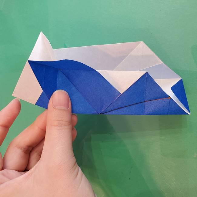 折り紙の箱クジラ(立体)折り方作り方(47)