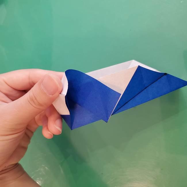 折り紙の箱クジラ(立体)折り方作り方(48)