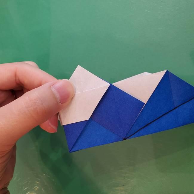 折り紙の箱クジラ(立体)折り方作り方(49)