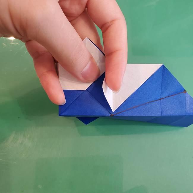 折り紙の箱クジラ(立体)折り方作り方(50)