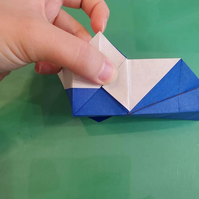 折り紙の箱クジラ(立体)折り方作り方(51)