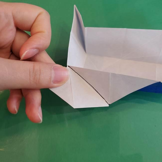 折り紙の箱クジラ(立体)折り方作り方(53)