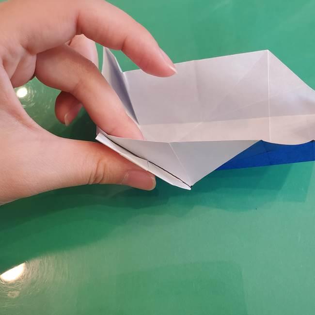 折り紙の箱クジラ(立体)折り方作り方(55)