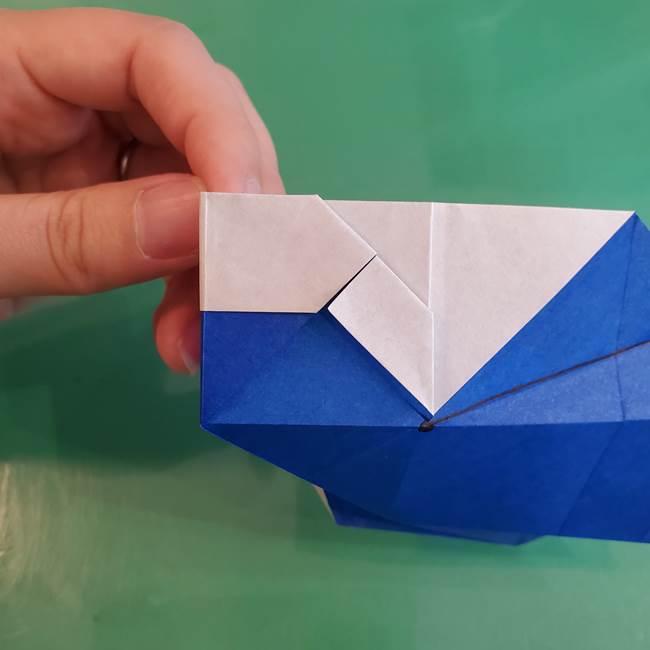 折り紙の箱クジラ(立体)折り方作り方(57)