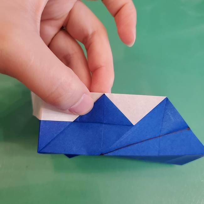 折り紙の箱クジラ(立体)折り方作り方(58)