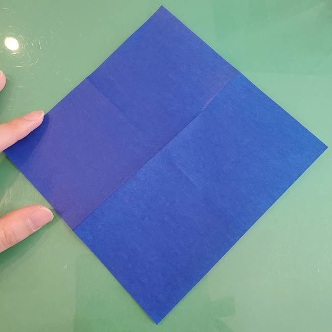 折り紙の箱クジラ(立体)折り方作り方(6)