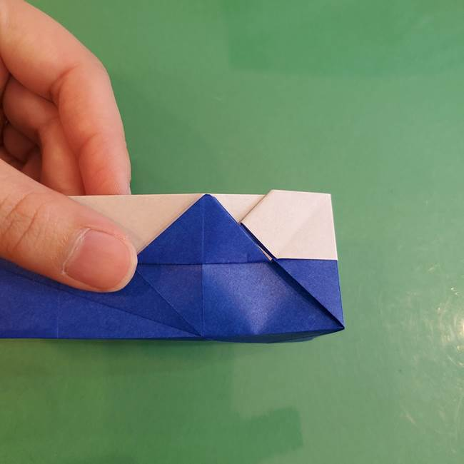 折り紙の箱クジラ(立体)折り方作り方(60)