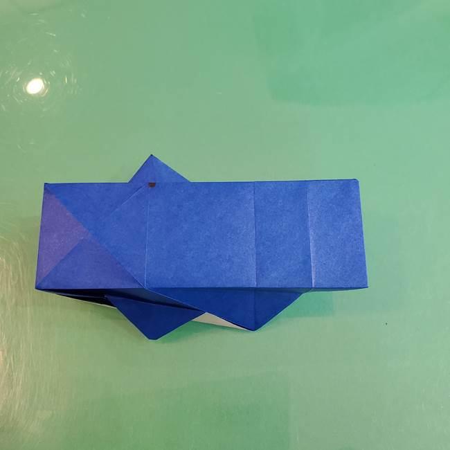 折り紙の箱クジラ(立体)折り方作り方(61)