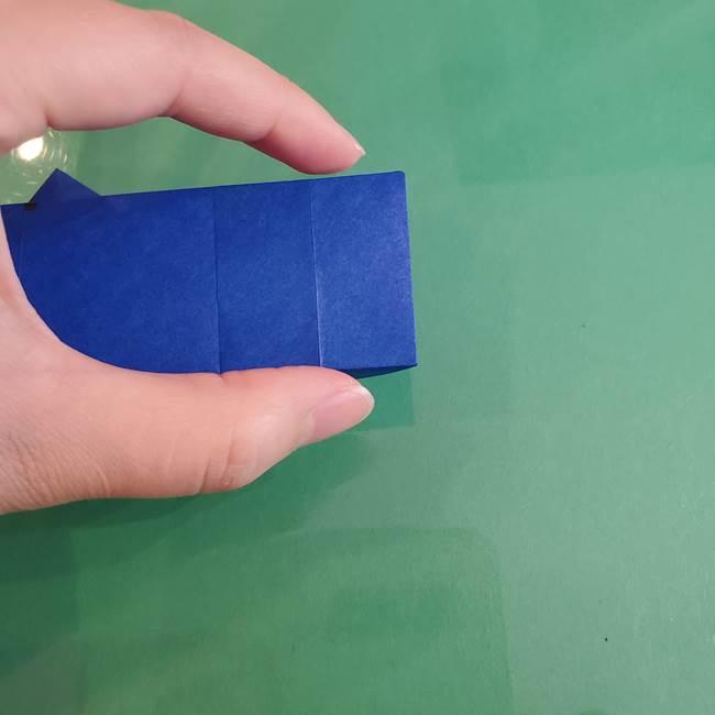 折り紙の箱クジラ(立体)折り方作り方(62)