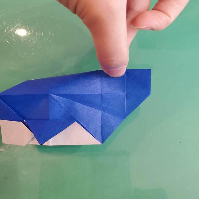折り紙の箱クジラ(立体)折り方作り方(63)