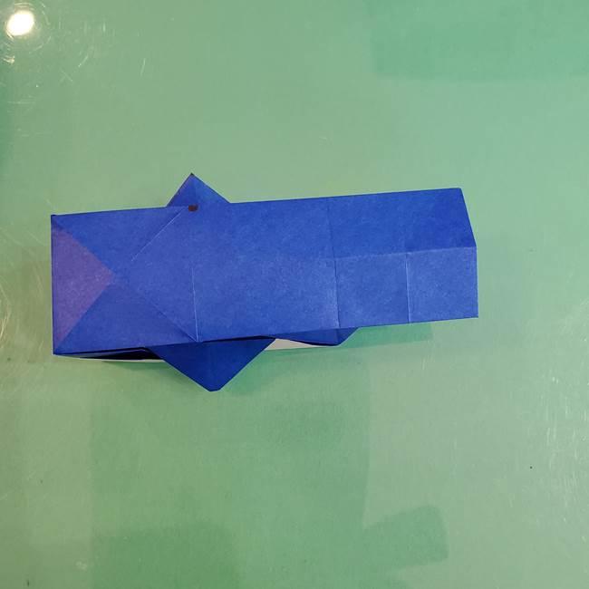 折り紙の箱クジラ(立体)折り方作り方(64)
