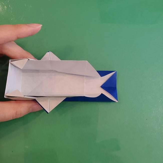 折り紙の箱クジラ(立体)折り方作り方(65)