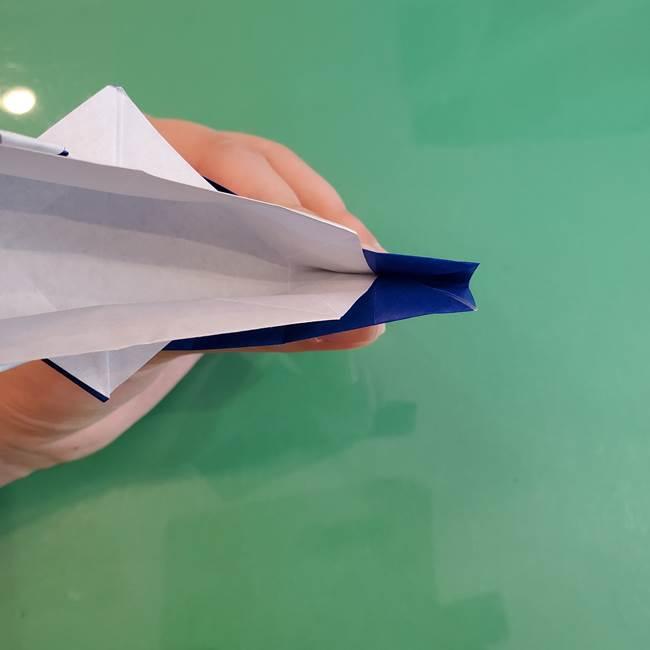 折り紙の箱クジラ(立体)折り方作り方(67)