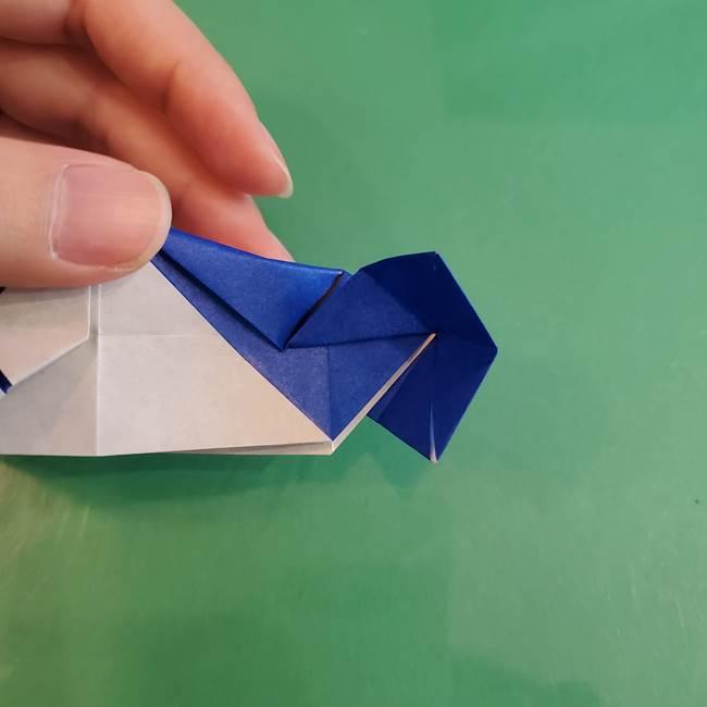 折り紙の箱クジラ(立体)折り方作り方(72)