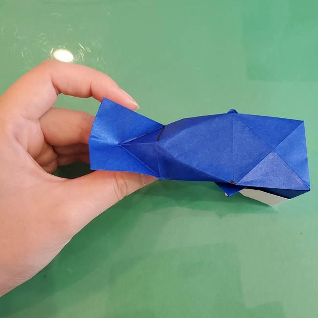 折り紙の箱クジラ(立体)折り方作り方(75)
