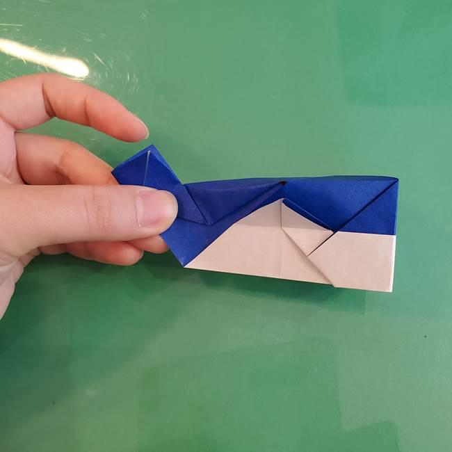 折り紙の箱クジラ(立体)折り方作り方(76)