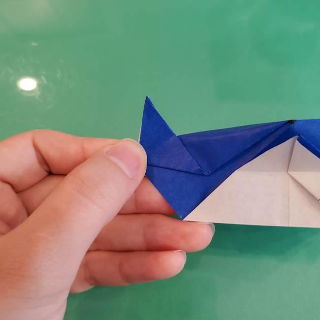 折り紙の箱クジラ(立体)折り方作り方(77)