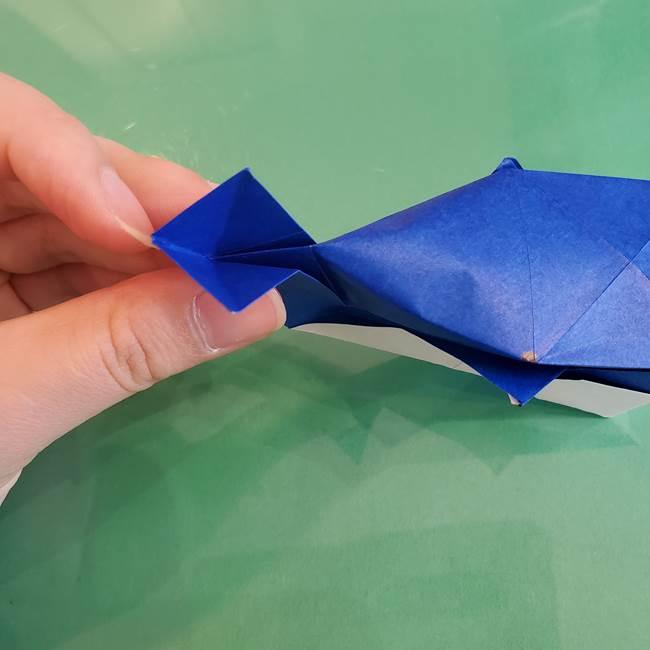 折り紙の箱クジラ(立体)折り方作り方(78)