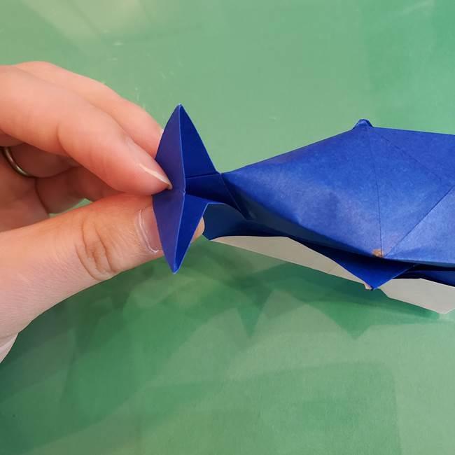 折り紙の箱クジラ(立体)折り方作り方(79)