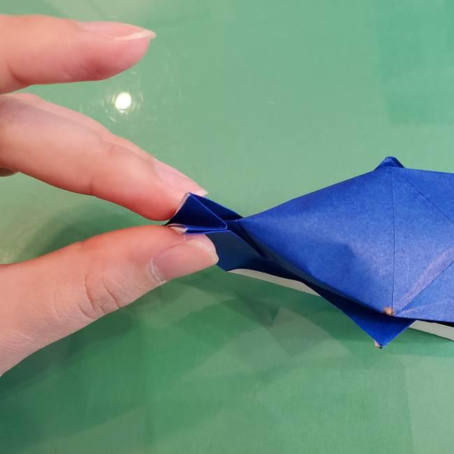 折り紙の箱クジラ(立体)折り方作り方(80)