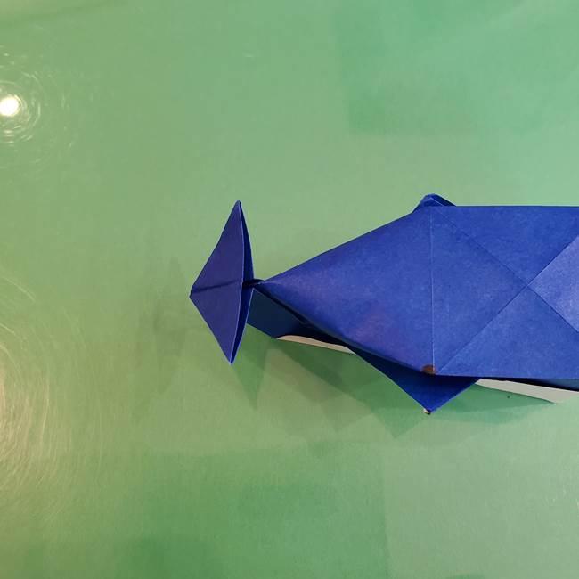 折り紙の箱クジラ(立体)折り方作り方(82)