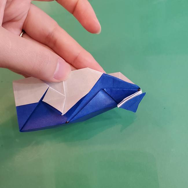 折り紙の箱クジラ(立体)折り方作り方(85)