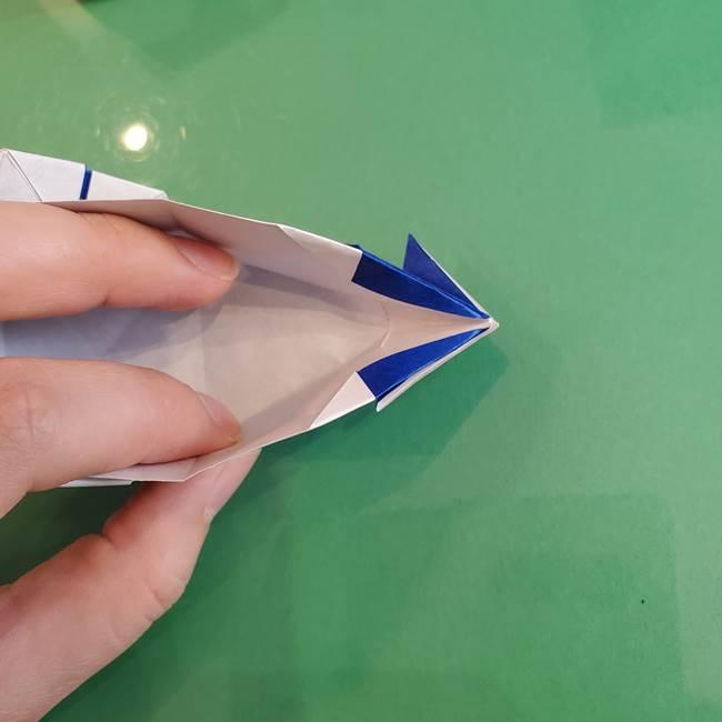 折り紙の箱クジラ(立体)折り方作り方(86)