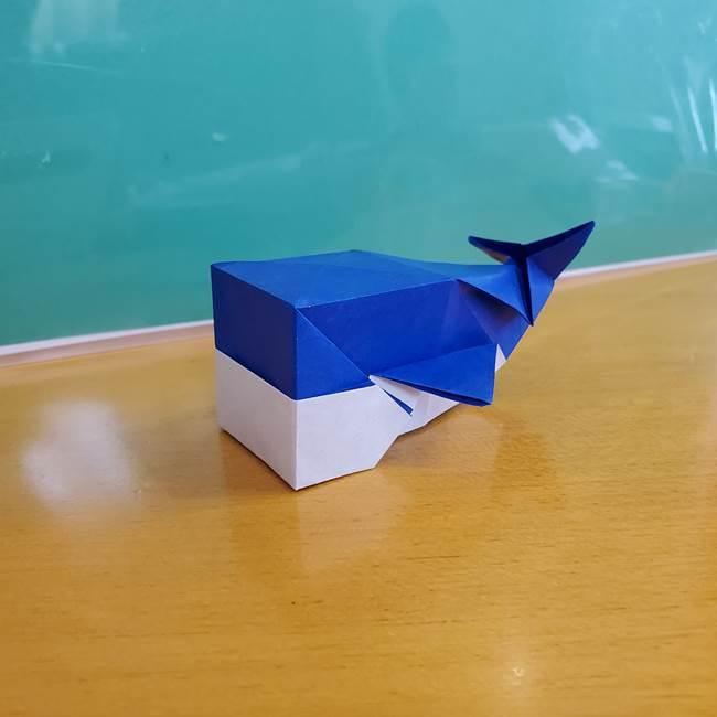折り紙の箱クジラ(立体)折り方作り方(87)