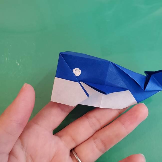 折り紙の箱クジラ②顔の描き方(2)