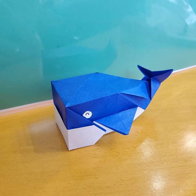 折り紙の箱クジラ(立体)折り方作り方