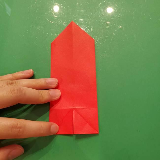 折り紙リスの折り図★立体で難しい折り方作り方①前半(10)