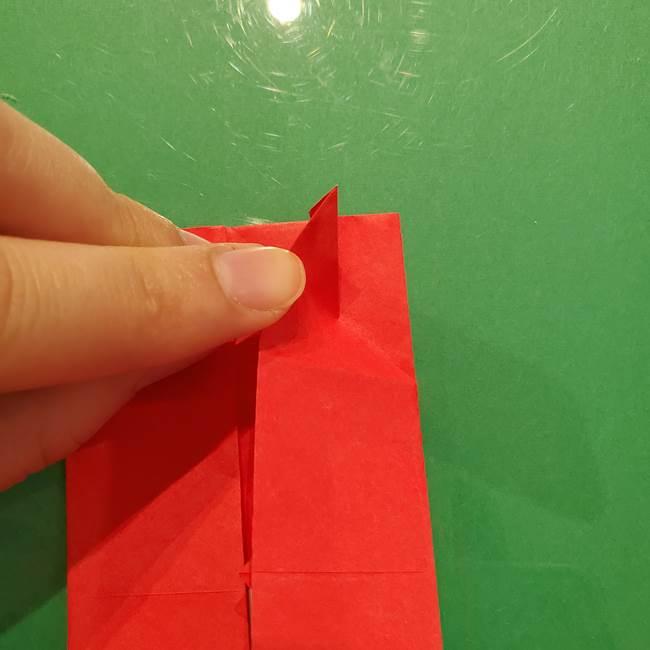 折り紙リスの折り図★立体で難しい折り方作り方①前半(13)