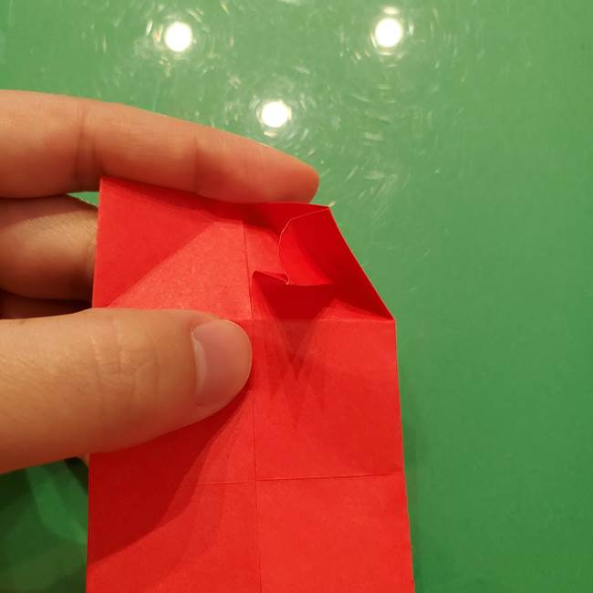 折り紙リスの折り図★立体で難しい折り方作り方①前半(14)