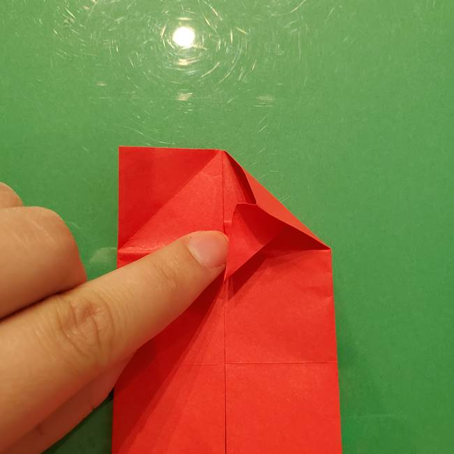 折り紙リスの折り図★立体で難しい折り方作り方①前半(15)