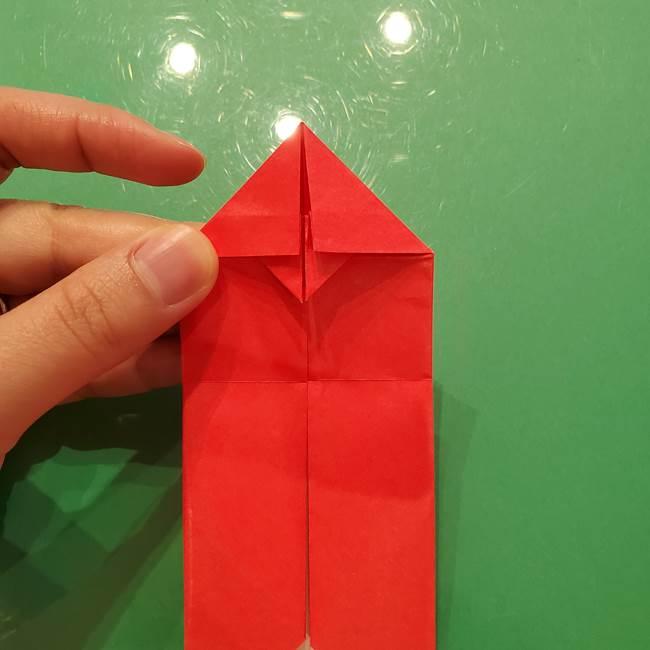 折り紙リスの折り図★立体で難しい折り方作り方①前半(17)
