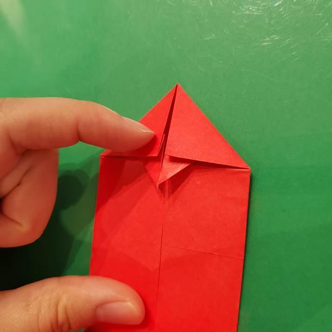 折り紙リスの折り図★立体で難しい折り方作り方①前半(18)
