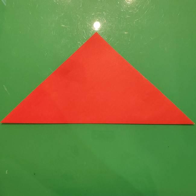 折り紙リスの折り図★立体で難しい折り方作り方①前半(2)