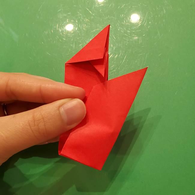 折り紙リスの折り図★立体で難しい折り方作り方①前半(22)