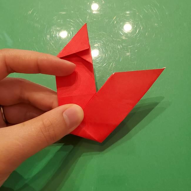 折り紙リスの折り図★立体で難しい折り方作り方①前半(23)