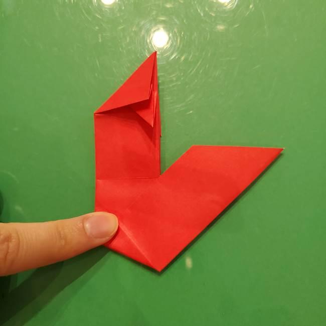 折り紙リスの折り図★立体で難しい折り方作り方①前半(24)