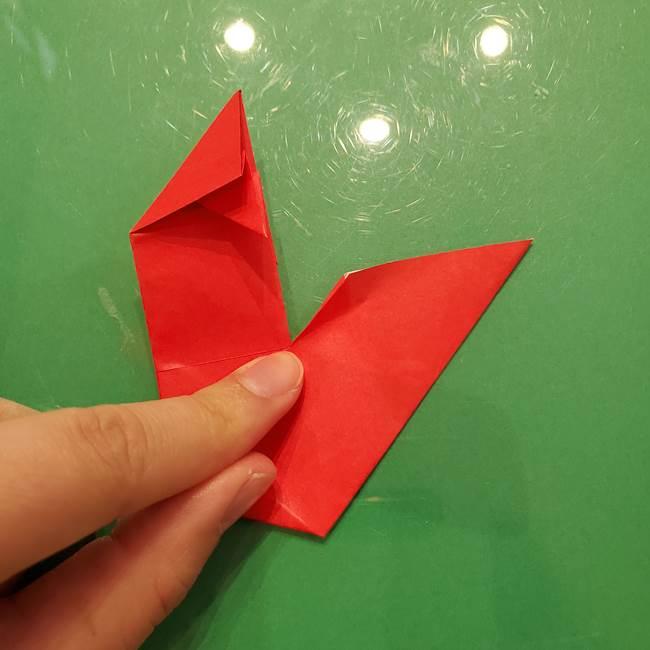 折り紙リスの折り図★立体で難しい折り方作り方①前半(27)