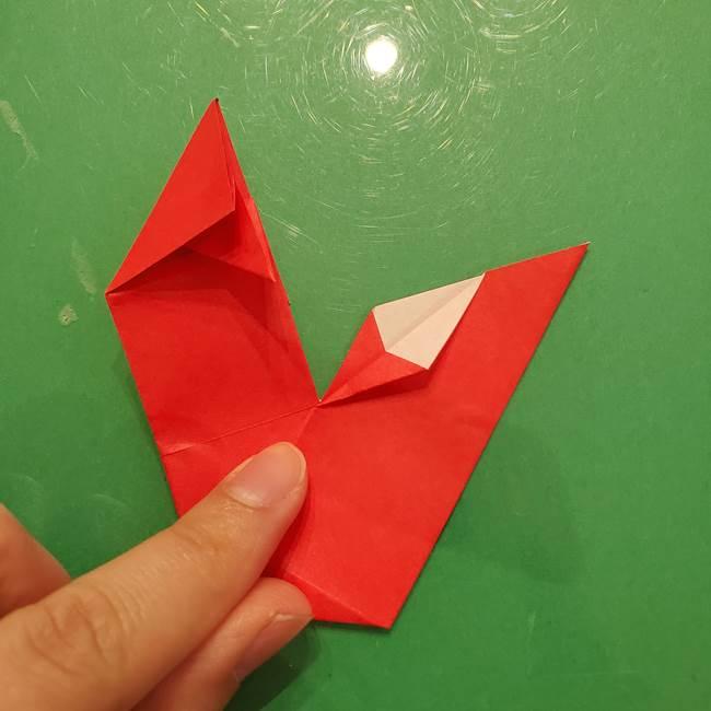 折り紙リスの折り図★立体で難しい折り方作り方①前半(28)