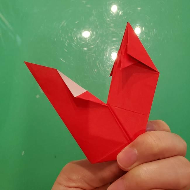 折り紙リスの折り図★立体で難しい折り方作り方①前半(29)