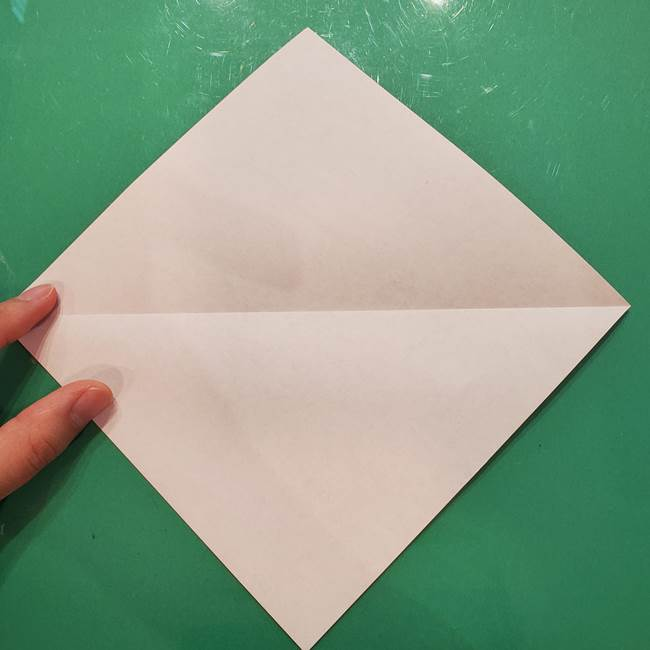 折り紙リスの折り図★立体で難しい折り方作り方①前半(3)