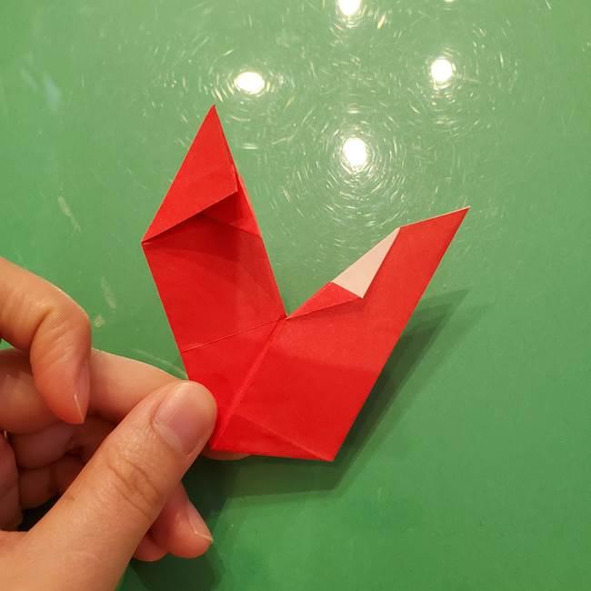 折り紙リスの折り図★立体で難しい折り方作り方①前半(30)