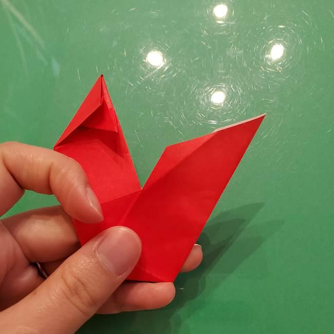 折り紙リスの折り図★立体で難しい折り方作り方①前半(31)